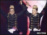 Jedward prepare for Eurovision
