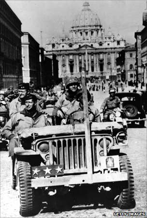 US troops during liberation of Rome