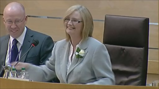Mid Fife and Glenrothes MSP Tricia Marwick is elected as the new presiding officer.
