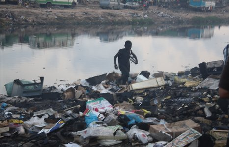 boy on Ghana dumpsite