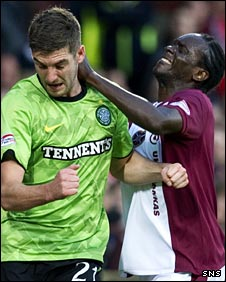 Charlie Mulgrew clashes with David Obua