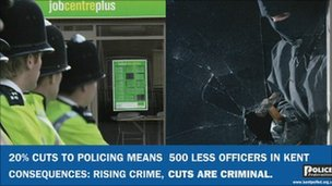 Kent police cuts advert