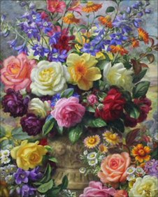 Albert Williams flower painting