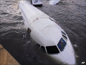 Crashed jet, AP