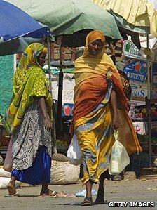 An open market in Djibouti town