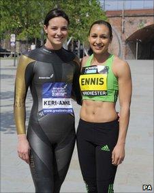 Keri-Anne Payne (left), Jessica Ennis