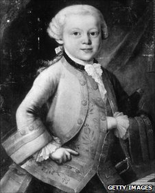 Painting of Wolfgang Mozart as a 7 yr old boy