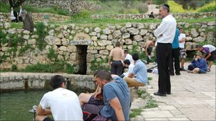Israelis in Lifta