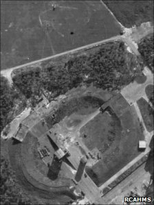 Arial photo of Peenemunde taken in 1943