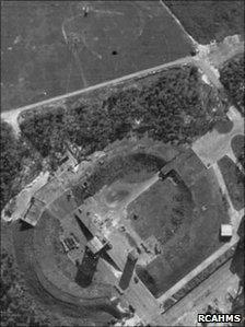 Arial photo of Peenemunde taken in 1943