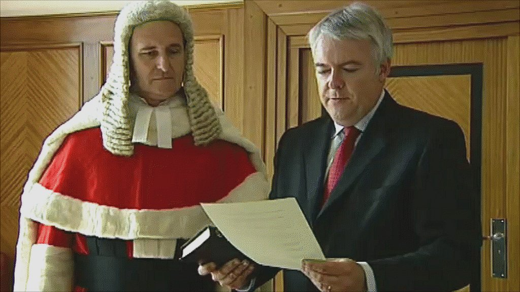 Carwyn Jones sworn in as First Minister