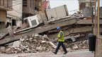 Collapsed building in Lorca, Spain - 12 May 2011
