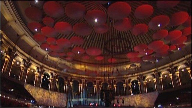 Interior of the Royal Albert Hall
