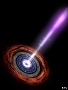 Artist's conception of active galactic nucleus