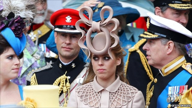 Princess Beatrice (centre)