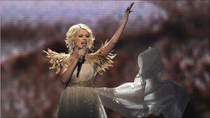 Ukraine's Eurovision singer Mika Newton