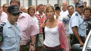 Kate McCann arriving for questioning by police in Portugal
