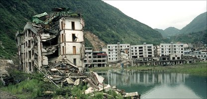 A photo of the 2008 China Earthquake