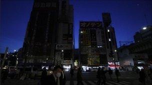 Tokyo in the dark