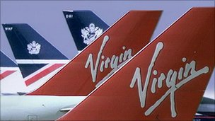 BA and Virgin tailfins