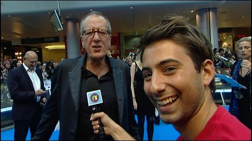 Ricky with Geoffrey Rush