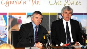 Ieuan Wyn Jones and Rhodri Morgan