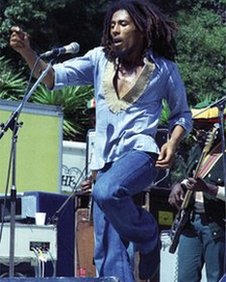Bob Marley performing