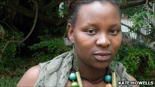 Lesego Mangwanyane who is exploring the way of the Sangoma