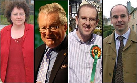 Elin Jones, Yr Arglwydd Elis-Thomas, Llyr Huws Gruffydd a Simon Thomas