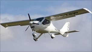 Fixed-wing microlight aircraft (picture courtesy of BMAA)