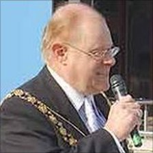 Councillor Peter Abraham when he was Lord Mayor