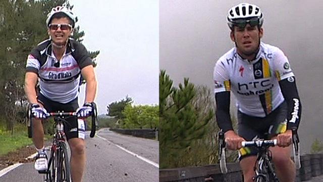 Mike Bushelll and Mark Cavendish