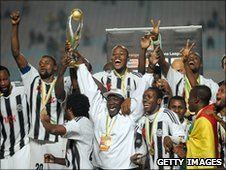 DR Congo side TP Mazembe celebrate winning the African Champions League