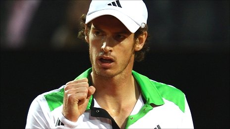 andy murray tennis serve. Andy Murray came within two