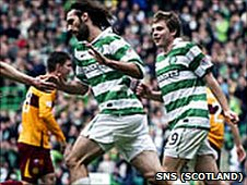 Georgios Samaras (left); James Forrest (right)