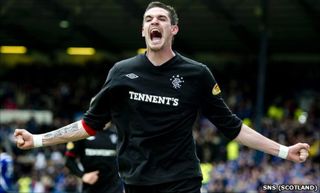 Rangers forward Kyle Lafferty