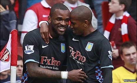 Darren Bent and Ashley Young