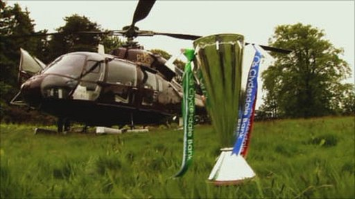 The Scottish Premier League trophy