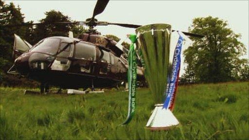 The Scottish Premier League trophy