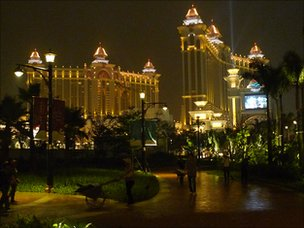 Galaxy Macau casino at night