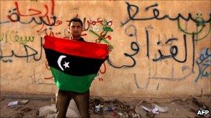 Protester in Tobruk (24 February 2011)