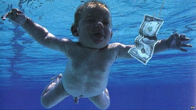 Spencer Elden on the cover of Nirvana's 'Nevermind' album