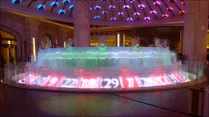 Roulette fountain at Galaxy Macau
