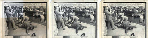 Wire photographs of the assassination attempt on President Reagan, 1981