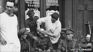 Soldiers wounded in Battle of Dublin