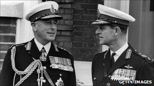 Lord Mountbatten with Prince Philip