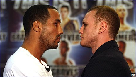 James Degale (left) and George Groves