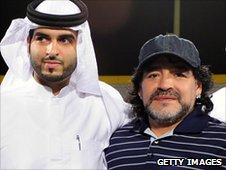Diego Maradona with unidentified Emirati official