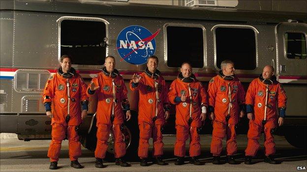Endeavour crew (Esa)