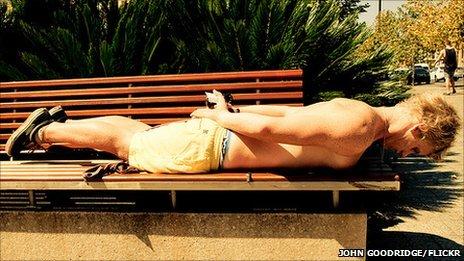 John Goodridge planking in Australia